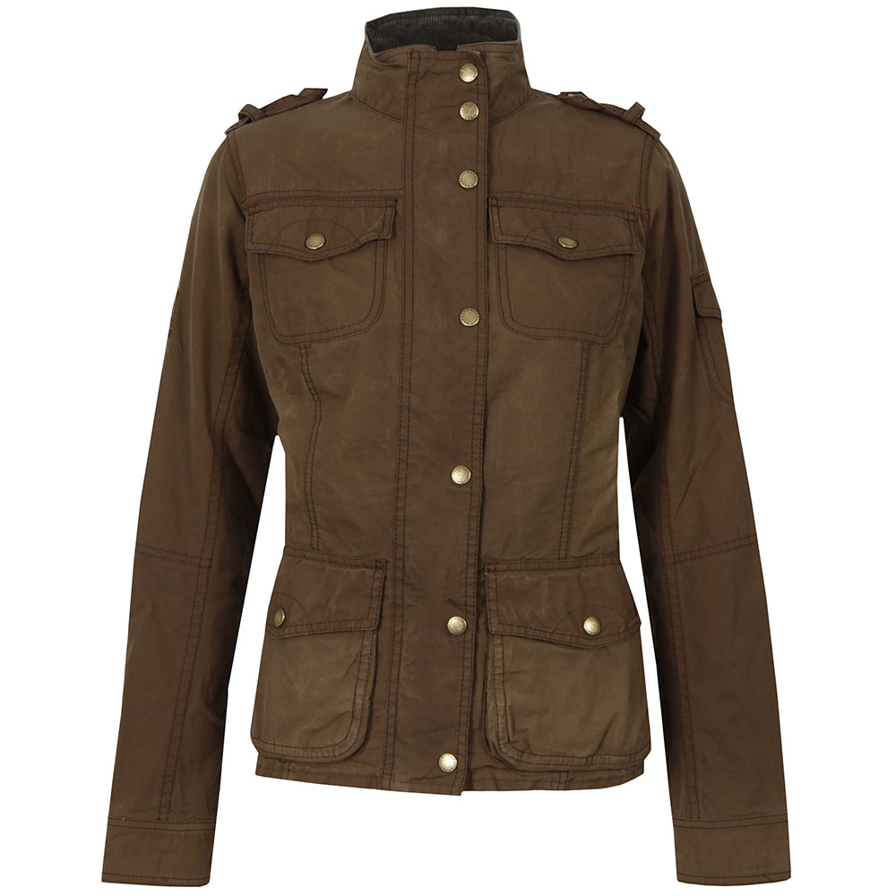 Barbour Heritage Womens Brown Churchill Wax Jacket main image ... 9ed9c5130f