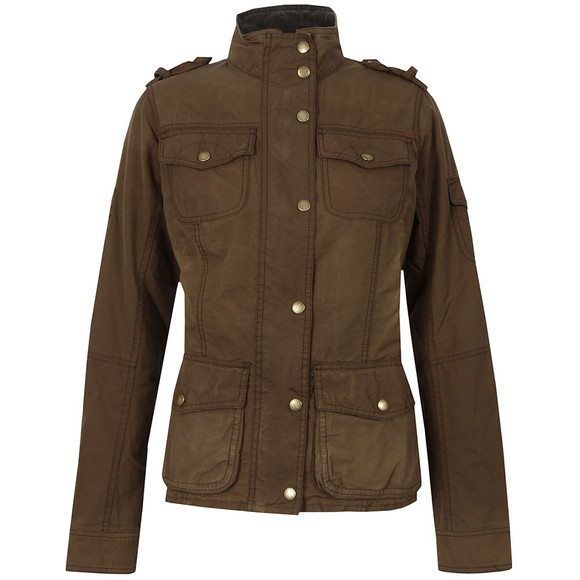 Barbour Heritage Womens Brown Churchill Wax Jacket main image