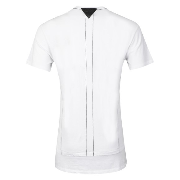Religion Mens White Laid Double Panel 2 Zip T Shirt main image
