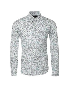 Paul Smith Jeans Mens Multicoloured Animal Print Tailored Fit Shirt
