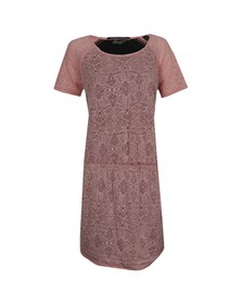 Maison Scotch Womens Pink Burnout Jersey and Woven Dress
