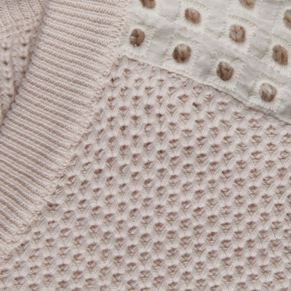 Maison Scotch Womens Pink Summer Knit With Eyelet main image