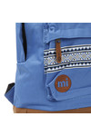 Mi Pac Unisex Blue Nordic Pocket Print Backpack