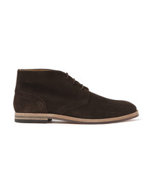 H By Hudson Mens Brown Houghton Suede Boot