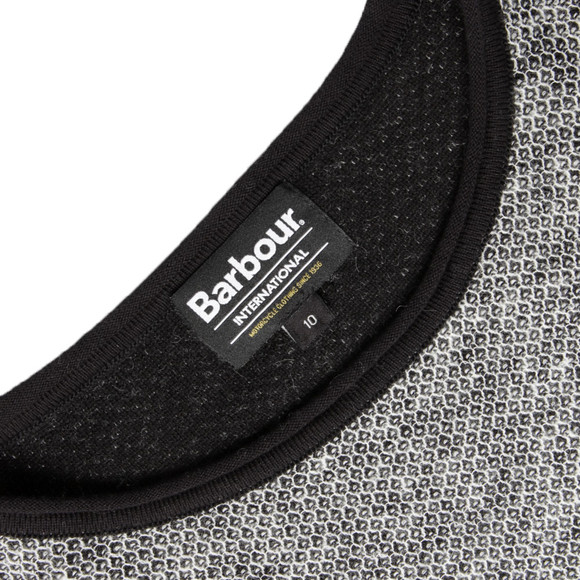 Barbour International Womens Black Blade Zip Side Jumper main image
