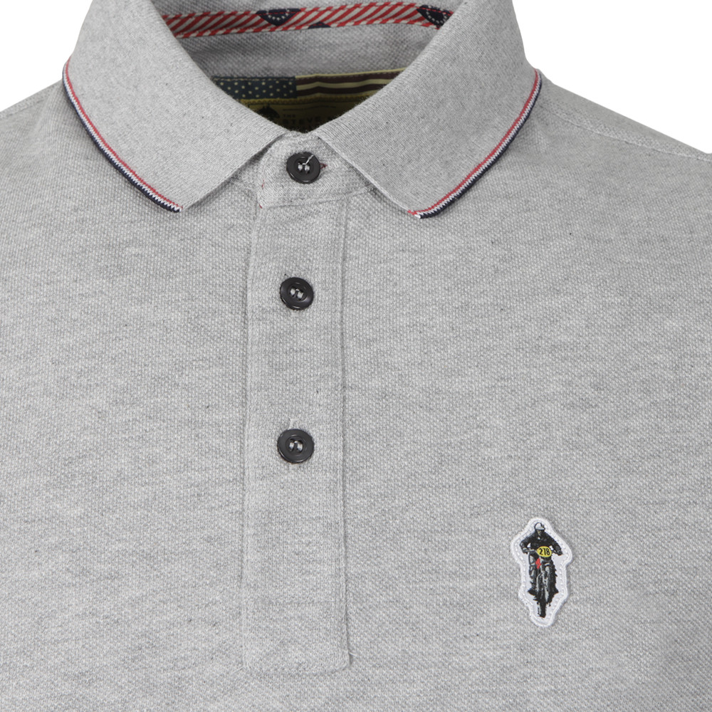 f8a1d3b19886 ... Barbour Int. Steve McQueen Mens Grey Jump Pique Polo Shirt main image
