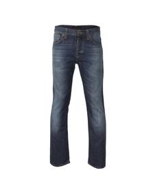 Nudie Jeans Mens Blue Straight Alf Jean