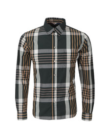 Paul Smith Jeans Mens Green Classic Fit Large Check Shirt