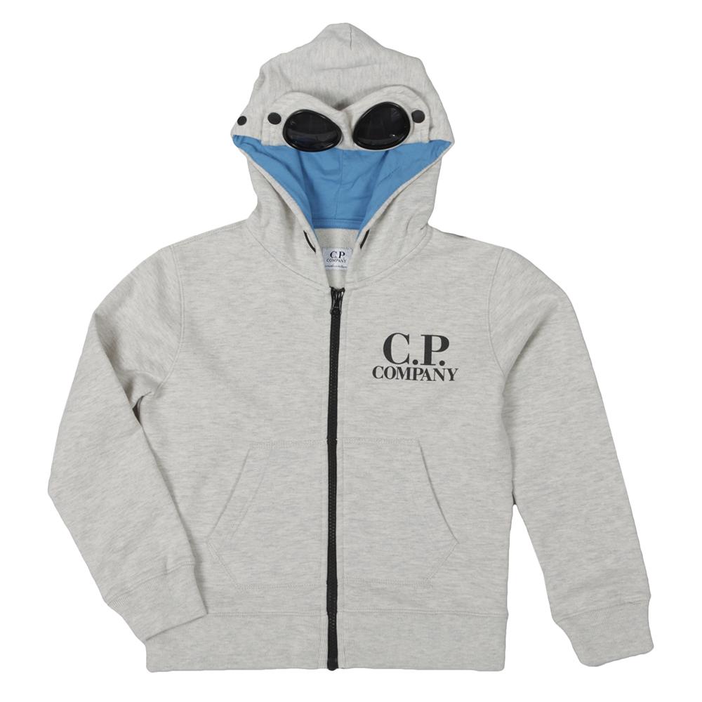 CP Company Undersixteen Goggle Zip Up Hoody Grey