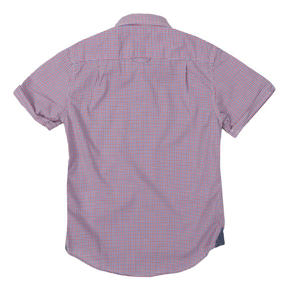 Gant Boys Red American Gingham Poplin Shirt