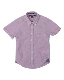 Gant Boys Red American Gingham Poplin Shirt