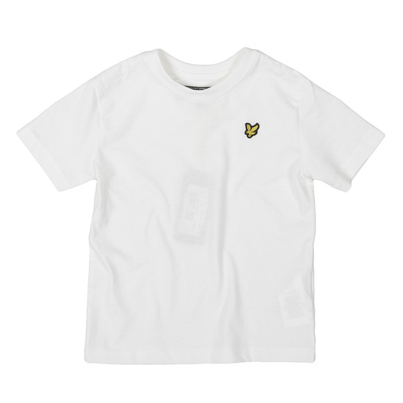 Lyle And Scott Junior Boys White Plain Crew T Shirt main image