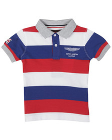 Hackett Boys Blue Hackett Boys Aston Martin Racing Stripe Polo