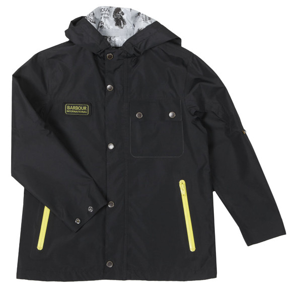 Barbour International Boys Black Boys Hornet Jacket main image