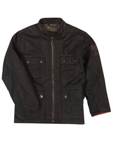 Barbour Int. Steve McQueen Boys Green Boys Chico Wax Jacket