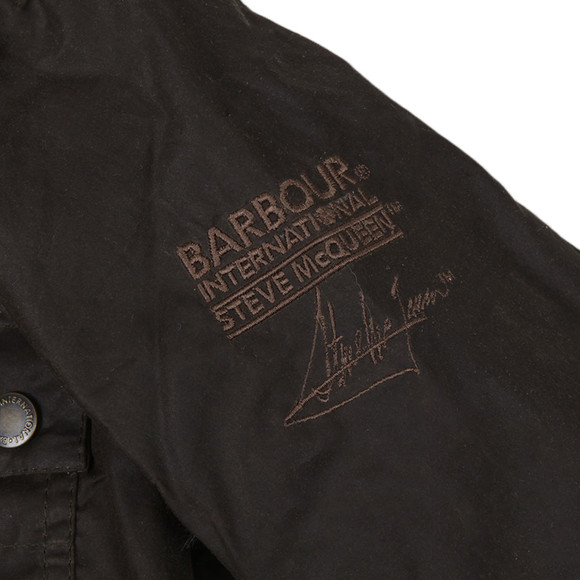 Barbour Int. Steve McQueen Boys Green Boys Chico Wax Jacket main image