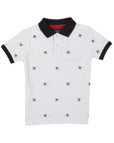 Hackett Boys White Hackett Boys Multi Logo Polo