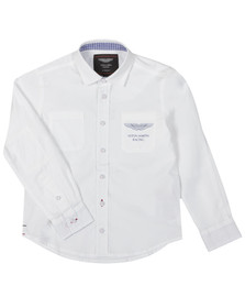 Hackett Boys White Aston Martin Racing Pocket Shirt