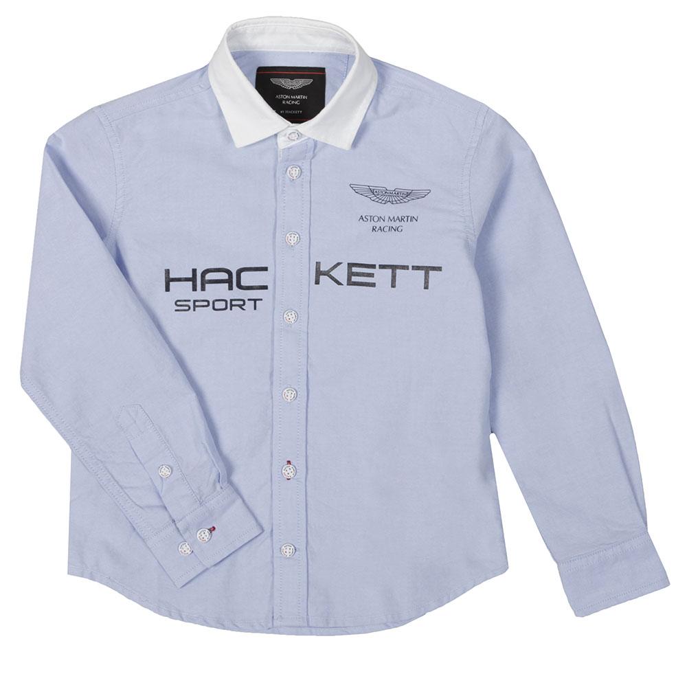 Hackett Aston Martin Racing Large Logo Shirt Oxygen Clothing - Aston martin clothing