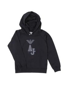 Armani Junior  Boys Blue AXB03 Large Logo Hoody