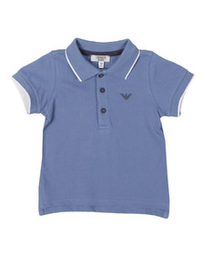 Armani Baby Boys Blue ADF04 Tipped Pique Polo Shirt