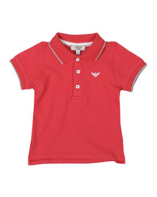 Armani Baby Boys Red ADF04 Tipped Pique Polo Shirt