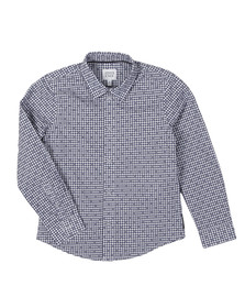Armani Junior  Boys Blue A4C07 Gingham Shirt