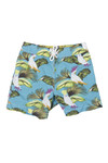 Hackett Boys Blue Tropical Bird Swim Short