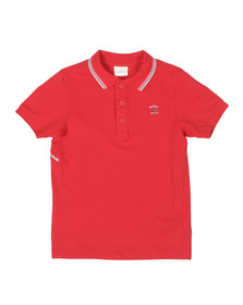 Diesel Boys Red Tobeyx Tipped Polo Shirt