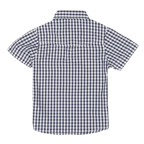 Timberland Boys Blue T25H61 Gingham Shirt main image