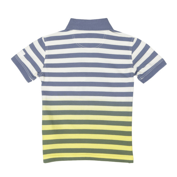 Barbour International Boys Yellow Ace Striped Polo Shirt main image