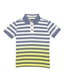 Barbour International Boys Yellow Ace Striped Polo Shirt