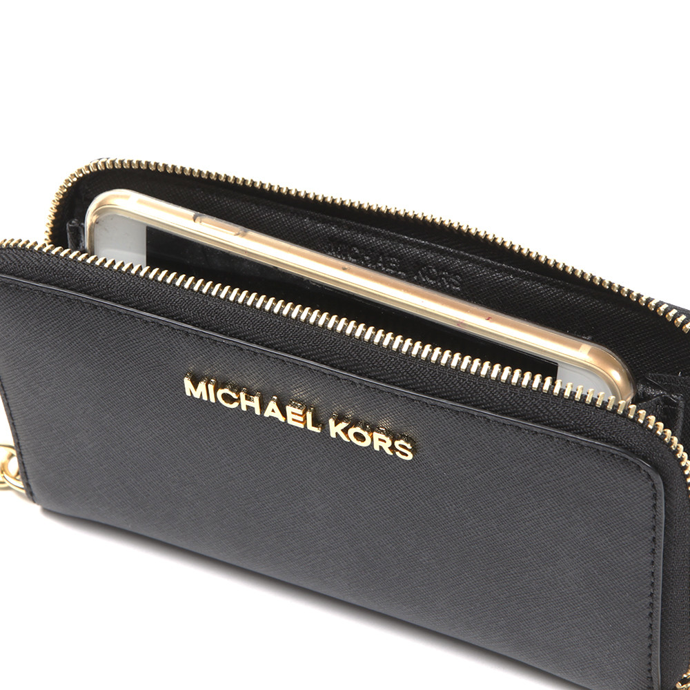 271cc4a8b1eb Michael Kors Jet Set Travel Large Coin Multi Function Phone Case ...