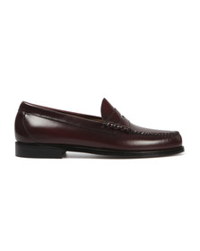 G H Bass & Co Mens Red Larson Penny Loafer