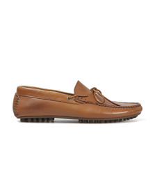 H By Hudson Mens Brown Felipe Calf Leather Driving Shoe