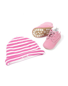 Timberland Girls Pink Crib Boots & Hat