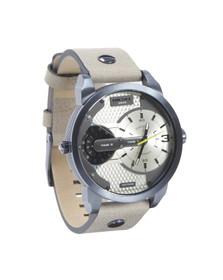 Diesel Mens Brown DZ7338 Mini Daddy Leather Watch