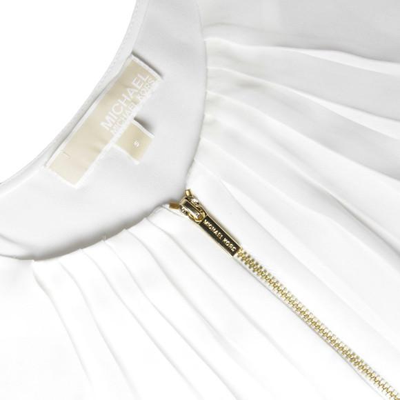 Michael Kors Womens White Zip Top main image