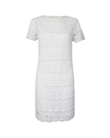 Michael Kors Womens White Short Sleeve Lace Dress