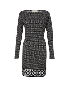 Michael Kors Womens Black Nezla Long Sleeve Dress