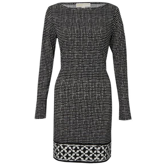 Michael Kors Womens Black Nezla Long Sleeve Dress main image