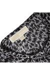 Michael Kors Womens Black Abstract Jaguar Top