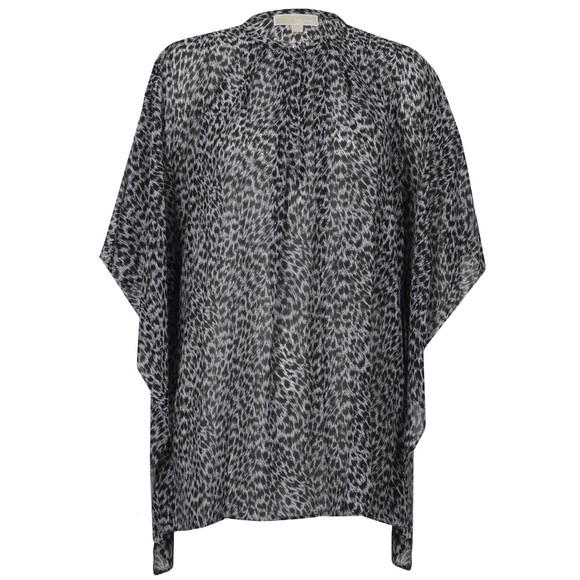 Michael Kors Womens Black Abstract Jaguar Top main image