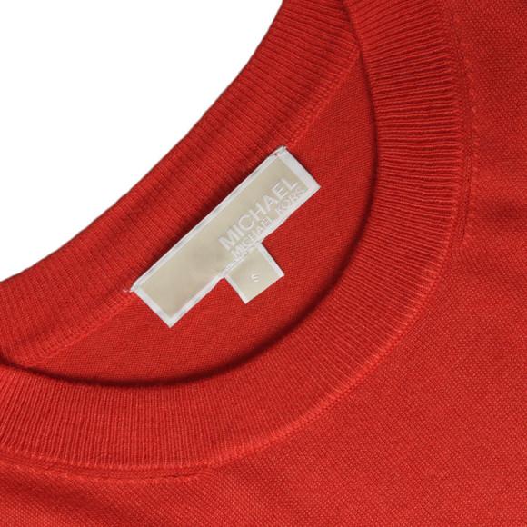 Michael Kors Womens Red Woven Hem Sweater main image