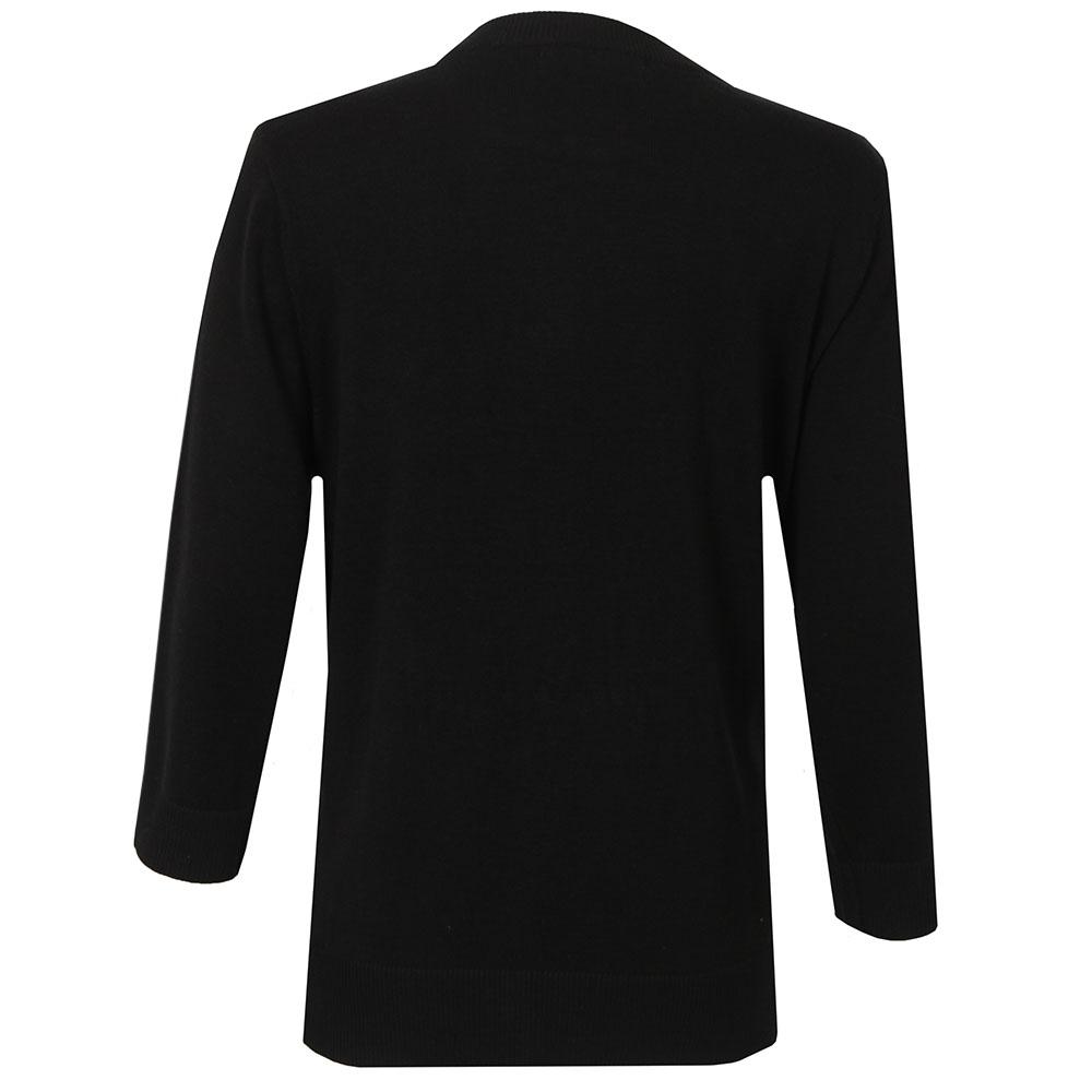 3/4 Sleeve Zip Leather Pocket Top  main image