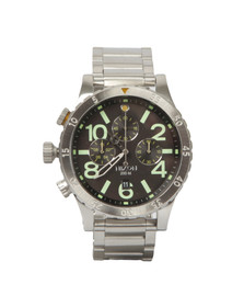 Nixon Mens Silver 48-20 Chrono Watch