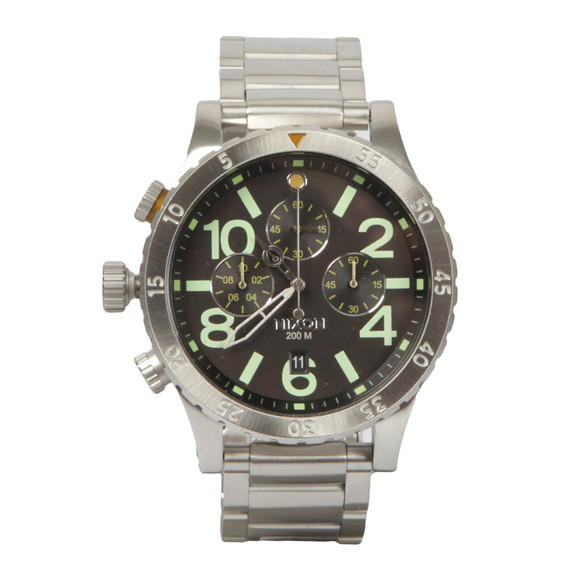 Nixon Mens Silver 48-20 Chrono Watch main image