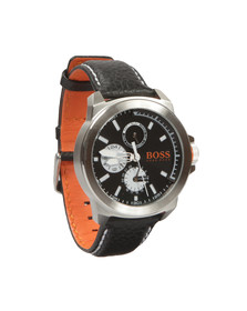 Boss Orange Mens Black HONEWYK Leather Srap Watch