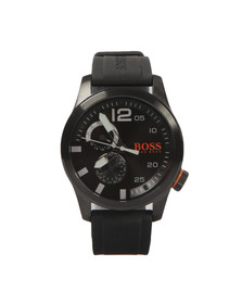 BOSS Mens Black Casual Paris Silicon Strap Watch