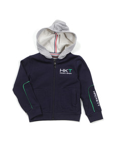 Hackett Boys Blue Aston Martin Racing Panel Hoody